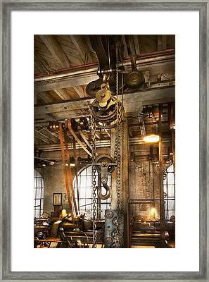 Machinist - In The Age Of Industry Framed Print by Mike Savad