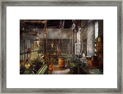 Machinist - Lathes - Machinists Paradise Framed Print by Mike Savad