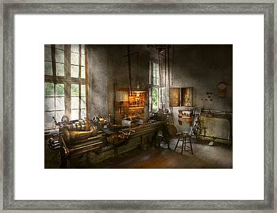 Machinist - Lathes Framed Print by Mike Savad
