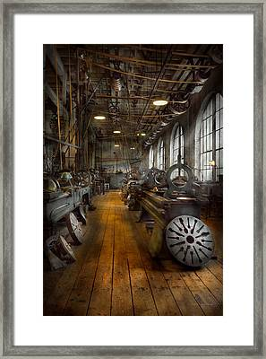 Machinist - Lathes - The Original Lather Disc  Framed Print by Mike Savad