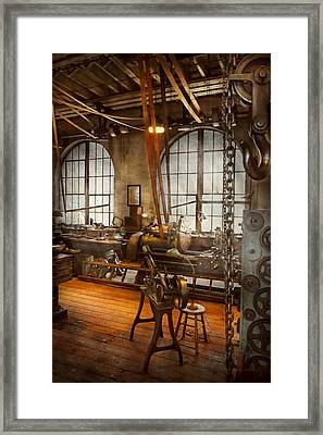 Machinist - The Crowded Workshop Framed Print by Mike Savad