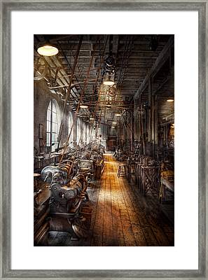 Machinist - Welcome To The Workshop Framed Print by Mike Savad