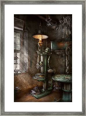 Machinist - Where Inventions Are Born Framed Print by Mike Savad