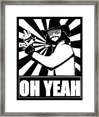 Macho Man Randy Savage Framed Print by Jason Kimble