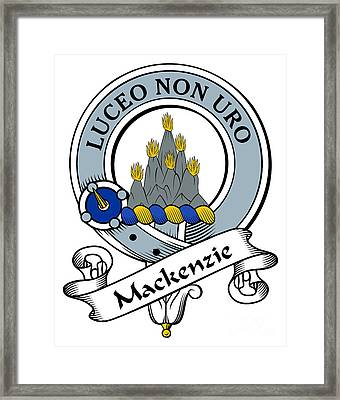 Mackenzie Clan Badge Framed Print by Heraldry