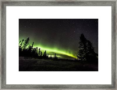 Mackenzie Point Aurora 3 Framed Print by Jakub Sisak