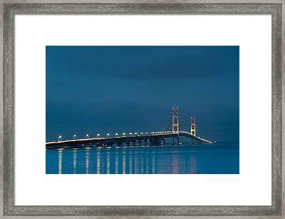 Mackinac Bridge Framed Print by Sebastian Musial