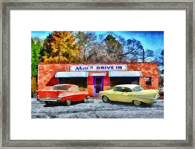 Mac's Drive In Framed Print by Lynne Jenkins