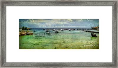 Mactan Island Bay Framed Print by Adrian Evans