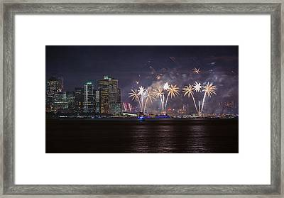 Macy's 4th Of July Fireworks  Framed Print by Eduard Moldoveanu