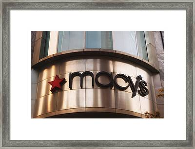 Macys Signage Framed Print by Thomas Woolworth