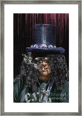 Mad As A Hatter - Slash Framed Print by Reggie Duffie