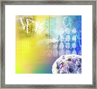 Mad Cow Disease Framed Print by Medi-mation
