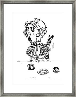 Mad Hatter Framed Print by Donna Haggerty