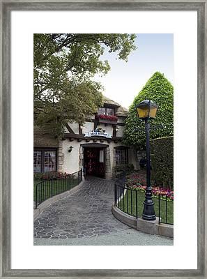 Mad Hatter Fantasyland Signage Disneyland 02 Framed Print by Thomas Woolworth