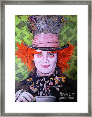 Mad Hatter Framed Print by Jessica Zint