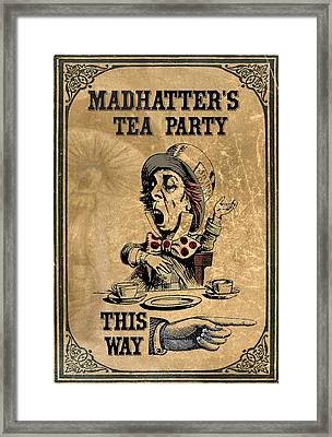 Mad Hatters Tea Party Framed Print by Greg Sharpe