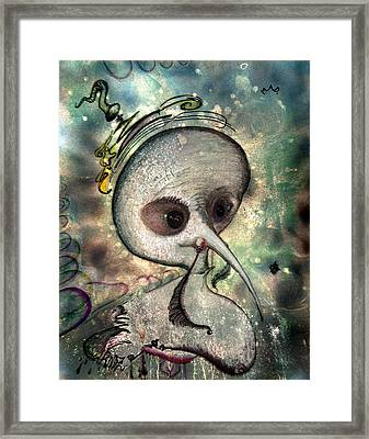 Mad  Her Evil Astral Soul Framed Print by Raul Morales