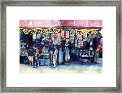 Mad Man Of Market And Main Singapore Framed Print by Gaye Elise Beda