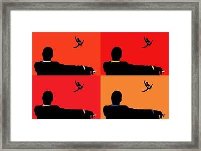Mad Men Pop Art Collage Framed Print by Dan Sproul