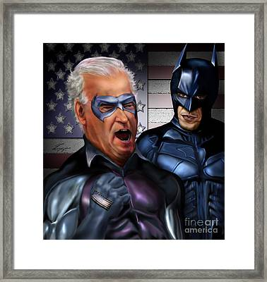 Mad Men Series 3 Of 6 - Obama And Biden Framed Print by Reggie Duffie