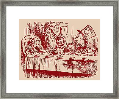 Mad Tea Party Framed Print by