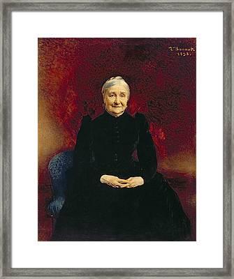 Madame Bonnat, The Artists Mother, 1893 Framed Print by Leon Joseph Florentin Bonnat