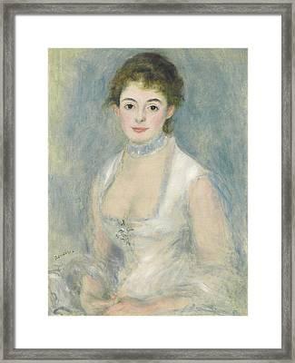 Madame Henriot Framed Print by Pierre Auguste Renoir