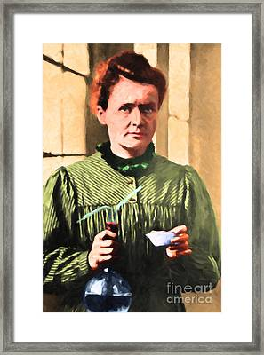 Madame Marie Curie 20140625 Framed Print by Wingsdomain Art and Photography