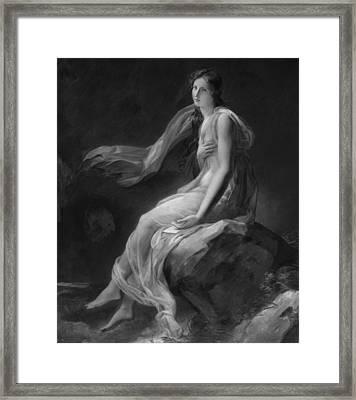 Madame Recamier Framed Print by Alexandre Evariste Fragonard