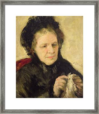 Madame Theodore Charpentier Framed Print by Pierre Auguste Renoir