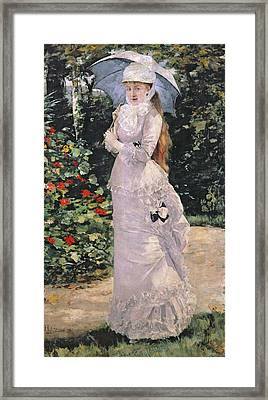 Madame Valtesse De La Bigne Framed Print by Henri Gervex