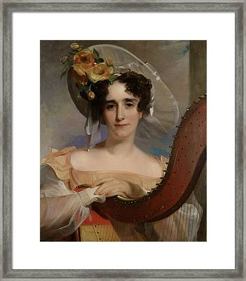 Mademoiselle Ade Sigoigne Framed Print by Thomas Sully