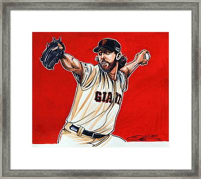 Madison Bumgarner World Series Mvp Framed Print by Dave Olsen