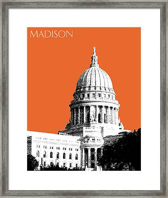Madison Capital Building - Coral Framed Print by DB Artist