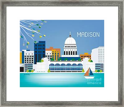 Madison Framed Print by Karen Young