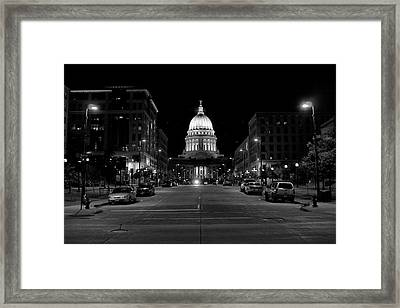 Madison Wi Capitol Dome Framed Print by Trever Miller