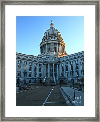 Madison Wisconsin Capitol Building - 01 Framed Print by Gregory Dyer