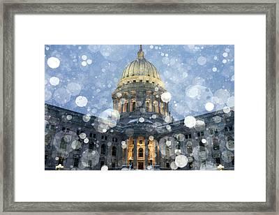 Madisonian Winter Framed Print by Todd Klassy