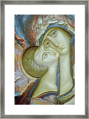 Madonna And Child Framed Print by Alek Rapoport