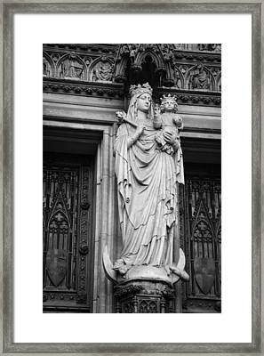Madonna And Child B W Framed Print by Teresa Mucha