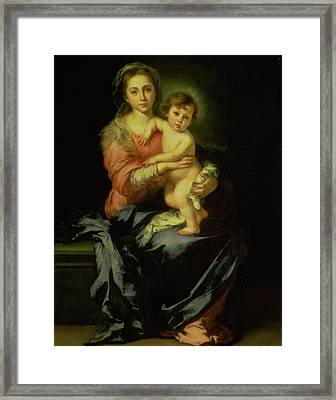 Madonna And Child Framed Print by Bartolome Esteban Murillo