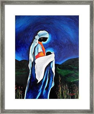 Madonna And Child - Beloved Son, 2008 Framed Print by Patricia Brintle