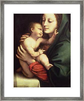 Madonna And Child Framed Print by Bernardino Luini