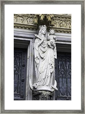 Madonna And Child Cologne Cathedral Framed Print by Teresa Mucha
