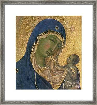 Madonna And Child  Framed Print by Duccio di Buoninsegna