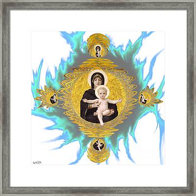 Madonna And Child Framed Print by Gaia Ragu