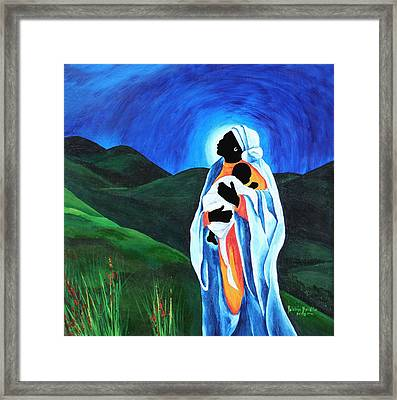 Madonna And Child  Hope For The World Framed Print by Patricia Brintle