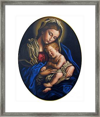 Madonna And Child Framed Print by Jane Whiting Chrzanoska