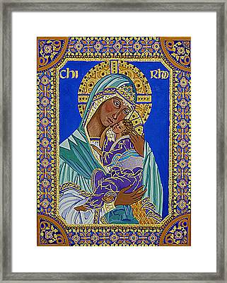 Madonna And Child Framed Print by Janet Ashworth